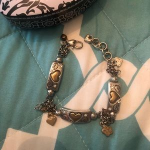 Two tone Brighton heart bracelet